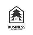 creative and simple pine house vector image vector image