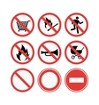 Danger signs vector image vector image