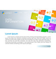 data information cover vector image