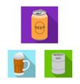 design of pub and bar symbol set of pub vector image