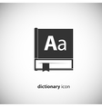 dictionary book icon vector image
