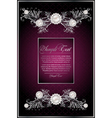 floral violet card vector image vector image