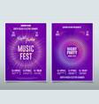 flyer electronic music festival sound event dj vector image vector image