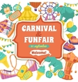 Fun Fair And Carnival Poster vector image vector image