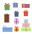 gift box collection in flat style vector image