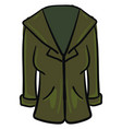 green coat on white background vector image vector image