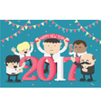 group business celebrating new year happy vector image vector image