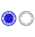 grunge no child labour scratched stamp seals vector image vector image