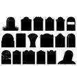 halloween gravestones vector image