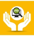 hand optimization technology php computer vector image vector image