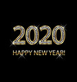 happy new year 2020 gold background vector image vector image