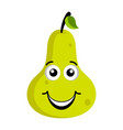happy pear emoticon vector image