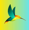 Hummingbird character for logo vector image