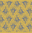 ikat seamless bohemian ethnic grey and yellow vector image vector image