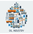 Industrial background design with oil and petrol vector image vector image