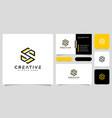 initials letter s logo design line style vector image
