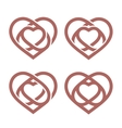 Isolated abstract monoline heart logo set Love vector image vector image