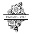 lace invitation card vector image vector image