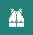 life vest icon vector image