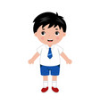 little boy in school uniform vector image vector image