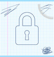 lock line sketch icon isolated on white background vector image vector image