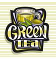 logo for green tea vector image