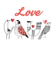 Love little birds vector image vector image