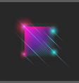 luminous neon moving square 80s dance night club vector image vector image