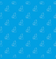 man operator pattern seamless blue vector image vector image