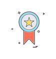 medal award star icon design vector image vector image