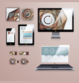 modern application template design for corporate vector image vector image