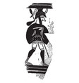 mycenae is a art on a greek vase vintage engraving vector image vector image