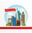 New York detailed silhouette vector image vector image