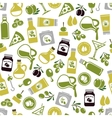 olives seamless pattern vector image vector image