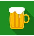 Overflowing Beer Mug vector image vector image