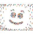 people emoji sign happy group people life vector image vector image