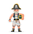 pirate costume masquerade party character design vector image