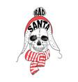 portrait of santa claus santa claus cartoon skull vector image vector image