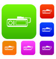 radio taxi set collection vector image vector image