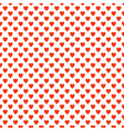 repeating heart pattern design background - love vector image vector image