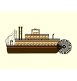 River retro steamer with a water wheel blades vector image vector image