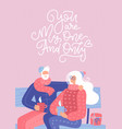 senior couple in love elderly people sitting on vector image
