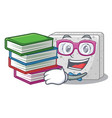 student with book fresh feta cheese isolated on vector image vector image