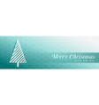 stylish christmas tree blue banner design vector image vector image