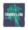 summerland california graphic t-shirt vector image vector image