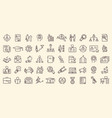 very large set line drawn career icons vector image vector image