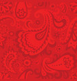 vintage red decorative seamless pattern vector image vector image