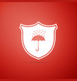 waterproof icon isolated shield and umbrella vector image vector image