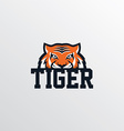 wild tiger logotype theme vector image vector image