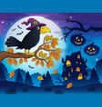 witch crow theme image 5 vector image vector image